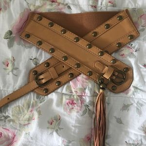 MAURICES Tan Stretch Belt